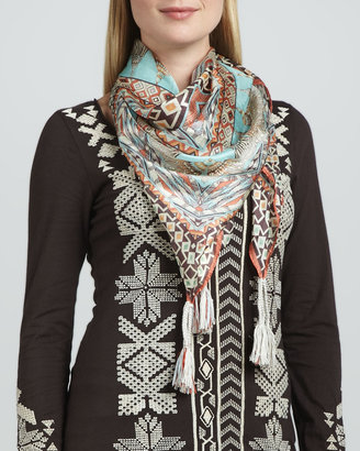 Johnny Was Collection Sonoma Printed Silk Scarf