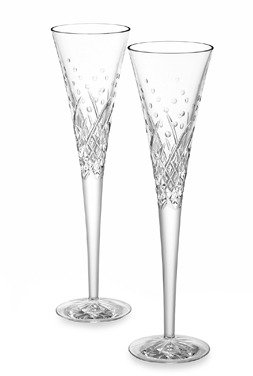 Waterford Wishes Happy Celebrations Toasting Flutes (Set of 2)