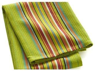 Crate & Barrel Salsa Dos Green Dish Towel
