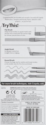 Crayola 5ct Art and Craft Brush Set