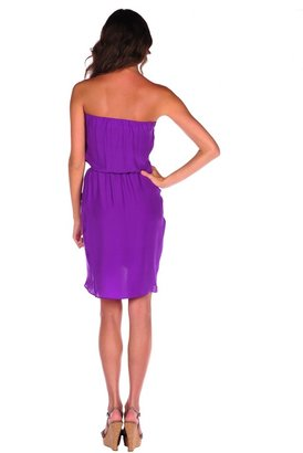 Blaque Label Pleated Front Tube Dress