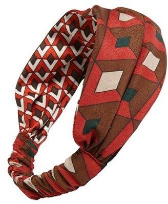 Cara 'Geo Diamond' Reversible Head Wrap