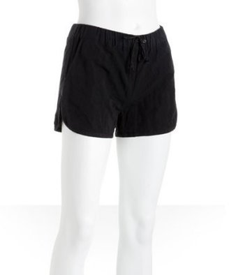 Alexander Wang black eighties-style running shorts