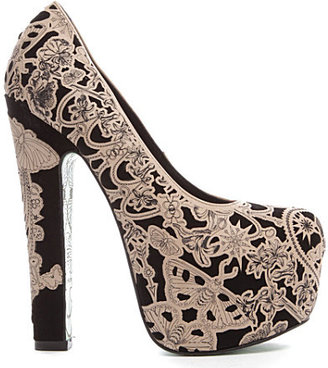 CHLOE JADE GREEN Lily Wing laser-cut courts