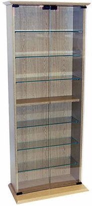 CD and DVD Media Storage Display Cabinet - Oak