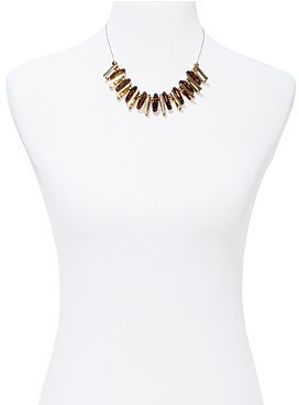 New York & Co. Goldtone & Faux-Tortoise Rings Necklace