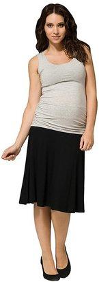 Ripe Maternity Basic A Line Skirt - Black-XS