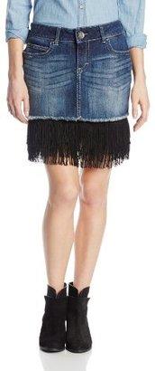 Wrangler Women's Premium Patch Mae Fringe Skirt