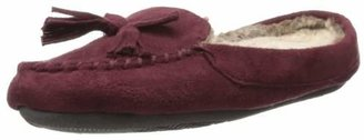 Isotoner Women's Woodlands Hoodback Moccasin with Fur