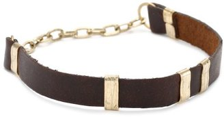 Citrine by the Stones Small Brown Leather Bracelets