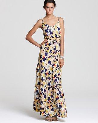 Aqua Dress - Diane Ikat Tiered Maxi