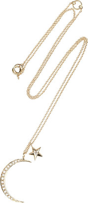 Anita Ko Moon & Star 14-karat gold diamond necklace
