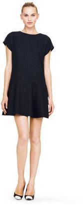 Club Monaco Erika Pinstripe Wool Dress