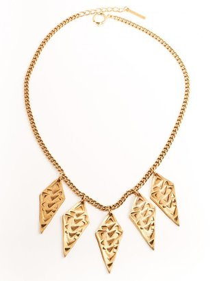 Carnet de Mode Tilly Doro Gold Plated Brass NIle Necklace with Diamond-shaped Charms
