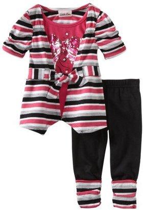 Little Lass Baby-Girls Infant 2 Piece Cuffed Legging Set