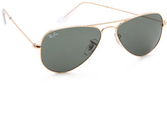 Ray-Ban Shrunken Aviator Sunglasses $150 thestylecure.com