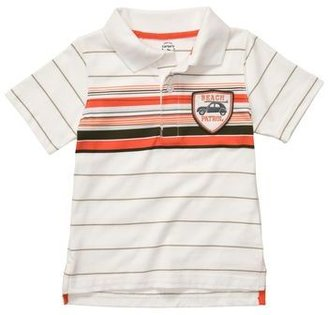 Carter's Short Sleeve Striped Polo-Style Shirt
