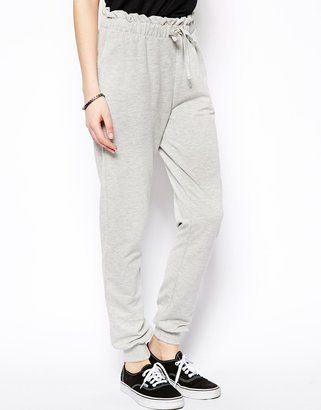 Asos Slim Sweatpants With Frill Waistband