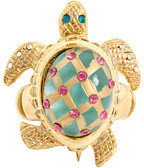 Betsey Johnson Sea Excursion Turtle Stretch Ring