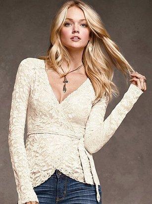 Victoria's Secret Lace Wrap Top