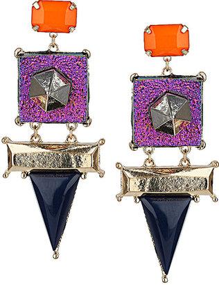 Topshop Glitter Triangle Earrings