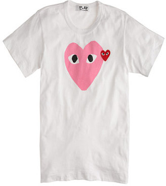 Comme des Garcons PLAY pink heart tee