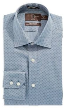 Black Brown 1826 Slim Fit Button-Down Dress Shirt