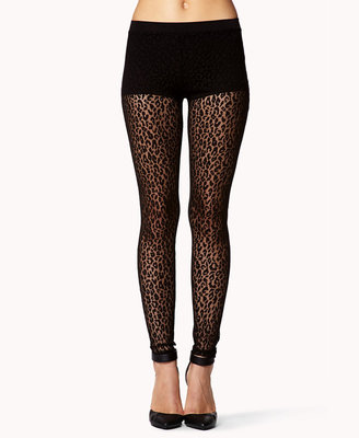 Forever 21 Leopard Lace Leggings