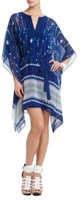 BCBGMAXAZRIA Eva Scarf-Print Dress