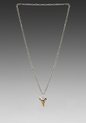 Luv Aj Two-Toned Charm Necklace in Antique Gold/Nickle