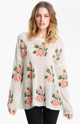 Wildfox Couture Rose Slouchy Sweater