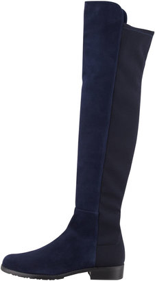 Stuart Weitzman 5050 Suede Stretch-Back Knee Boot