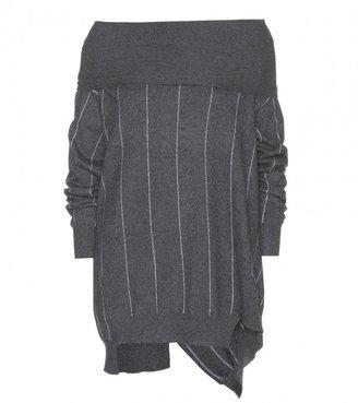 Stella McCartney Striped wool turtleneck sweater
