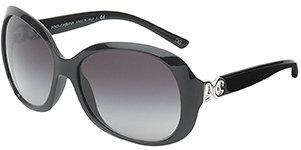 Dolce & Gabbana Round Frames with Logo - Black