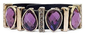 Nicole Miller nicole by Purple Stone & Smoky Topaz Snap Bracelet