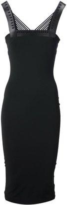 David Koma lace bust fitted dress