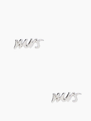 Kate Spade Say yes mrs studs