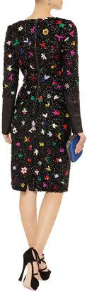 Suno Sequined linen-blend dress