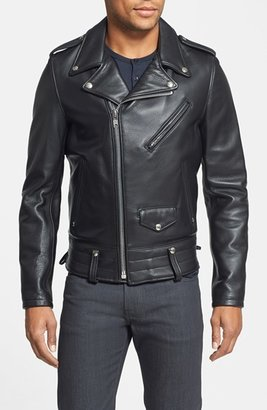 Men's Schott Nyc 'Chips' Slim Fit Moto Leather Jacket $850 thestylecure.com