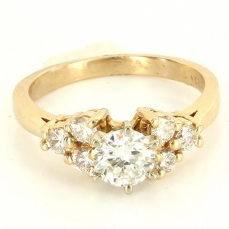 575 Denim very good (VG) Vintage 14K Yellow Gold Diamond Engagement Ring - Size
