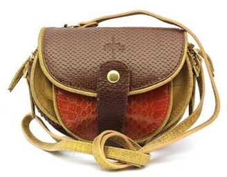 "Jerome Dreyfuss Momo"" Multi Colored & Animal Print Leather Cross-body Bag"