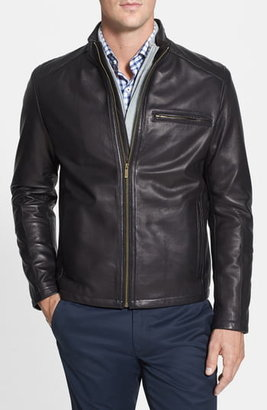 5c81228fe Lambskin Leather Moto Jacket Men - ShopStyle