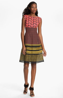 Tracy Reese Embroidered Mash-Up Frock