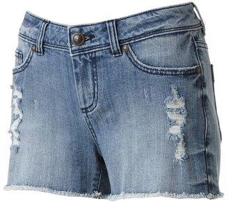 Lauren Conrad distressed cut-off denim shorts
