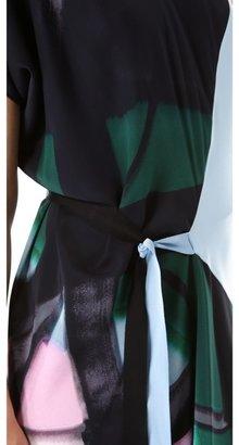 Vionnet Draped Dress with Grosgrain Ties