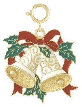Ani De Ani, Inc. Enamel Holiday Bells Charm, 14K