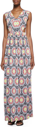 T-Bags T Bags Cutout Medallion Print Maxi Dress