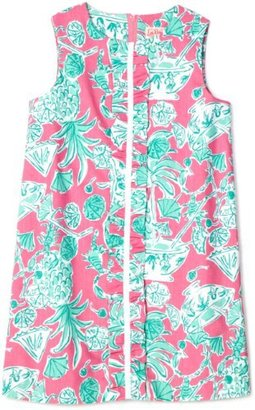 Lilly Pulitzer Girls Little Lilly Shift Dress with Ruffled Front