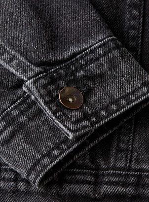 Topman Black Washed Denim Western Jacket