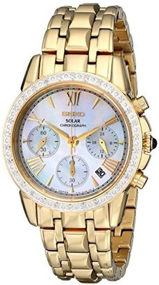 Seiko Women's SSC890 Stainless Steel Diamond-Accented Watch $595 thestylecure.com